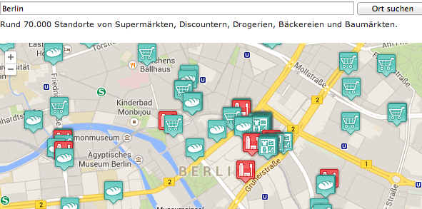 Creating a store locator web-application – customer project